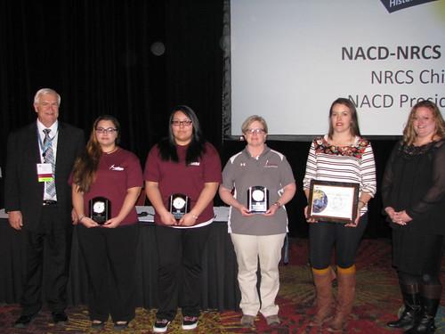 Sam Antipa, Monique Renteria and AACT with their NRCS' 2016 National Earth Team Partnership Awards