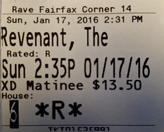 The Revenant ticketstub