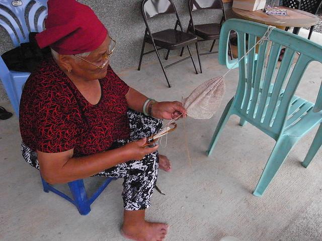 伊娜的編織技藝