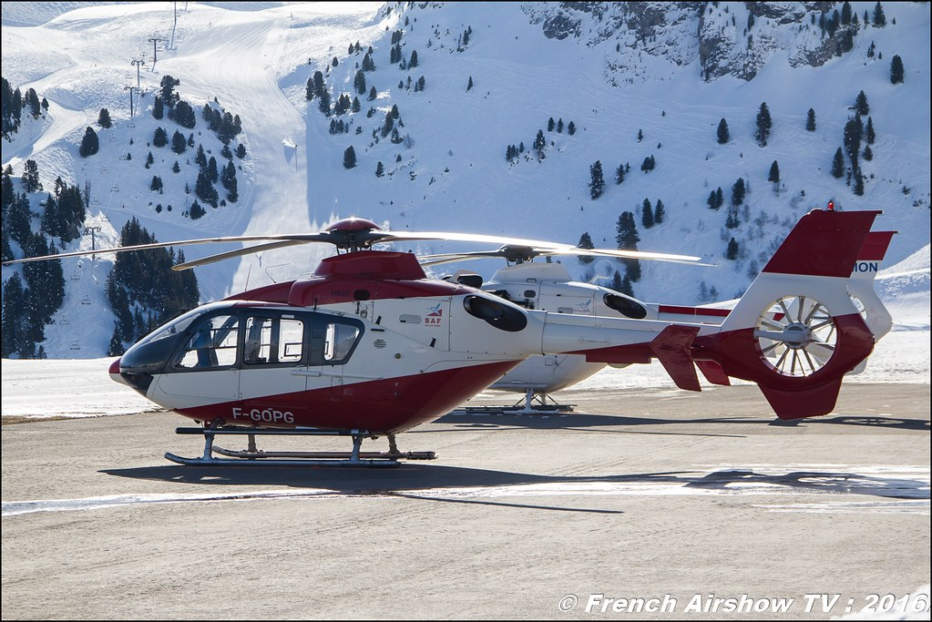 Eurocopter EC-135-T1 - F-GOPG - SAF HELICOPTERES, Salon Hélicoptère à Courchevel 2016, Meeting Aerien 2016