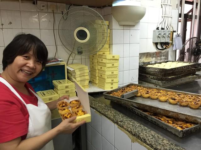 Egg tars o pasteles de nata en Lord Stow's Bakery (Coloane, Macao)