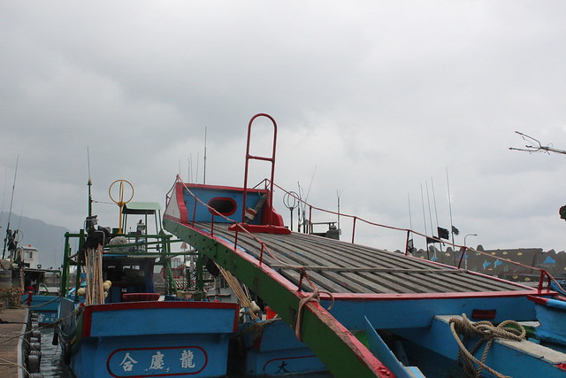 漁船上的旗魚鏢台。攝影:廖靜蕙