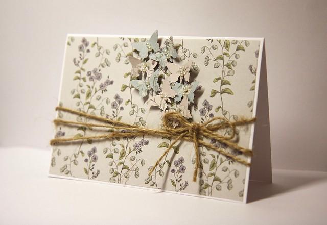 English Garden Butterfly sprinkle card by StickerKitten