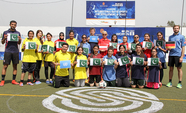 Football- changing young women's lives in Pakistan