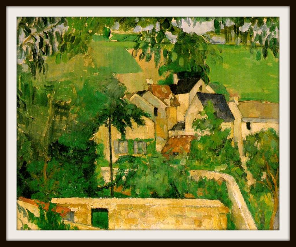 Study: Landscape at Auvers by Paul Cezanne, 1873.
