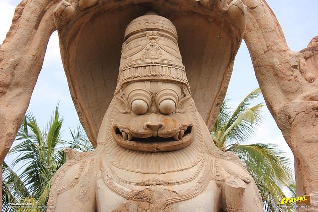 Lakshmi Narasimha monolith, Hampi, Ballari district, Karnataka, India