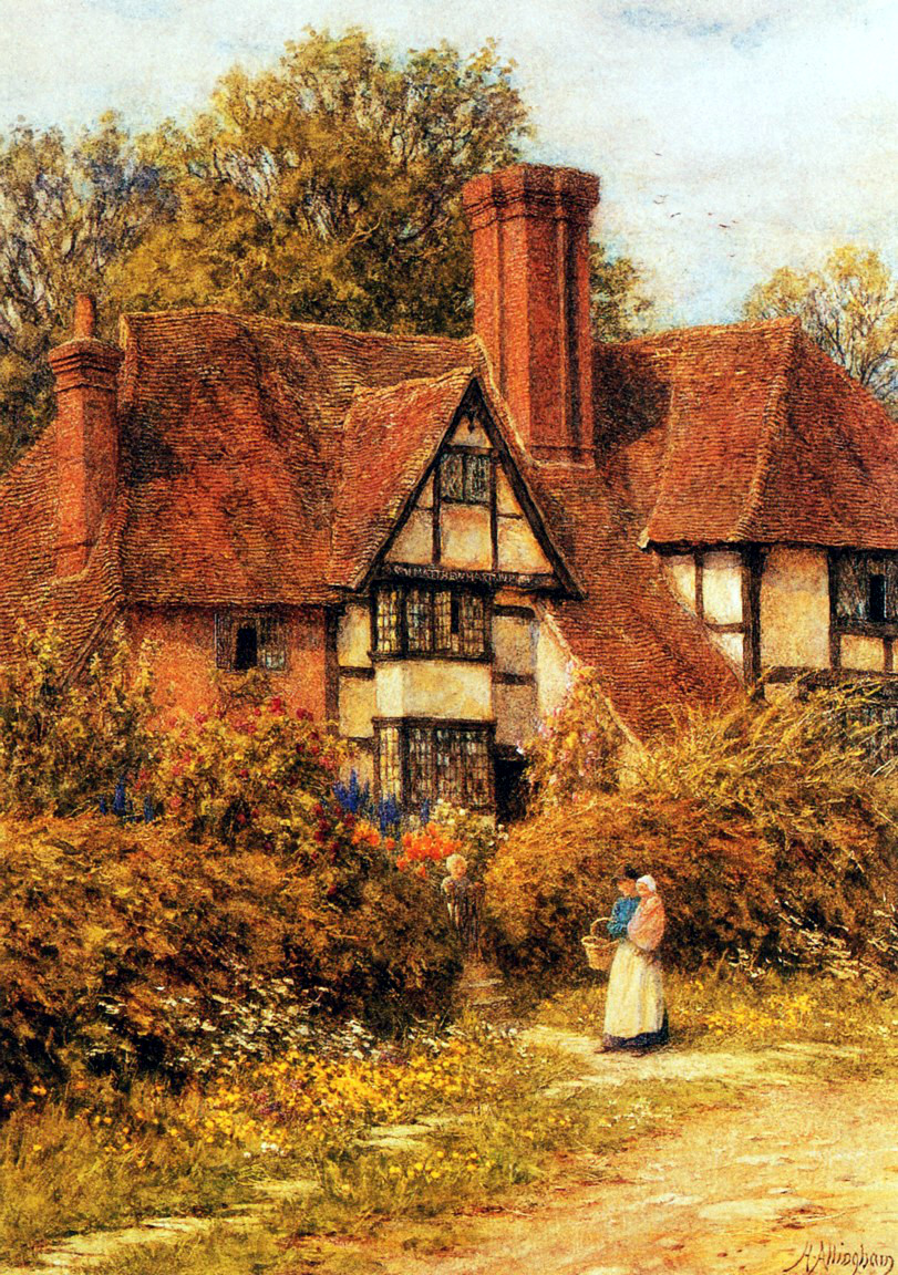 20 beautiful cottage paintings by victorian artist helen for Oil painting lessons near me