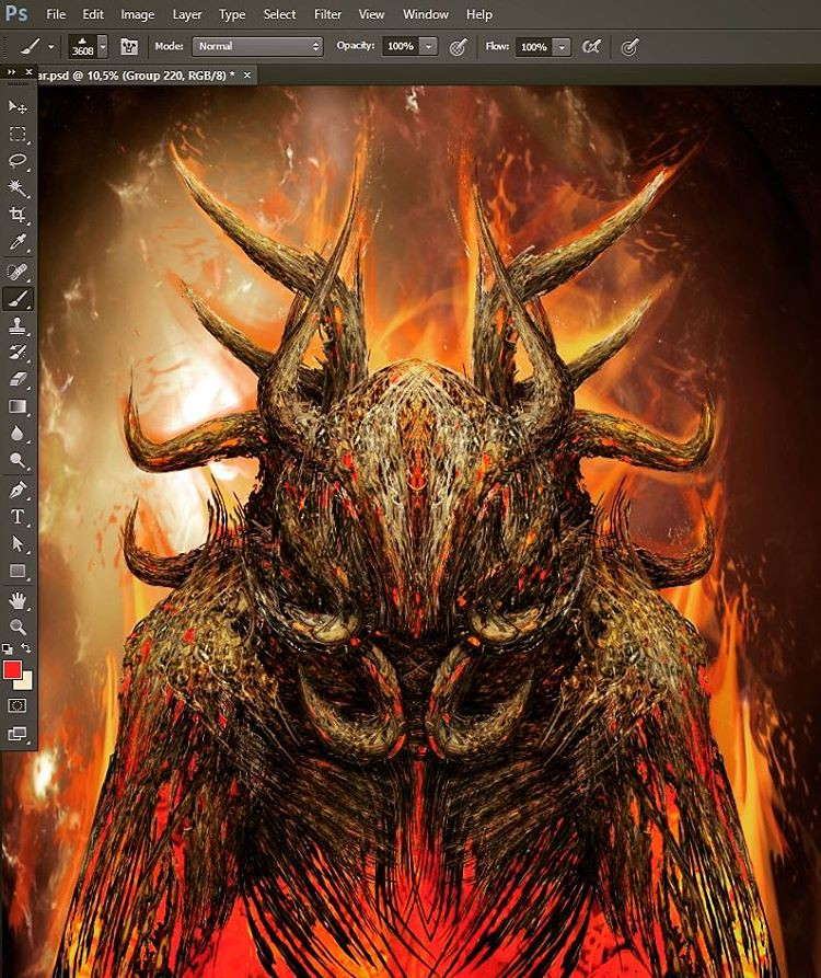 Surtr#illustration #photoshop #digitalart #pagan #art #dig