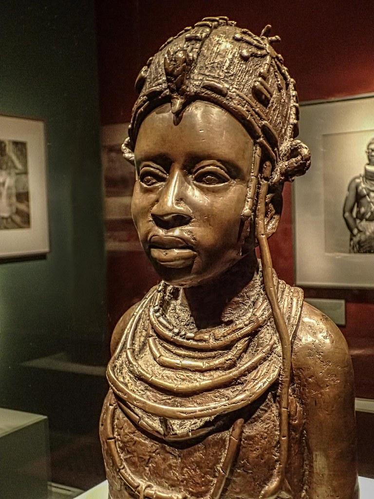 Bronze Sculpture Of Ideal Benin Woman By Osaize Omodamwen