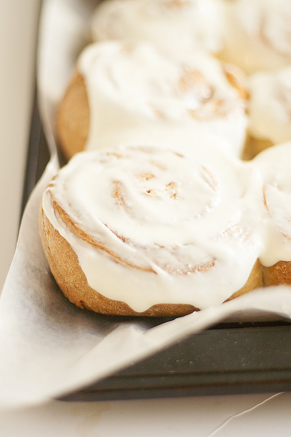 challah cinnamon rolls | heathersfrenchpress.com