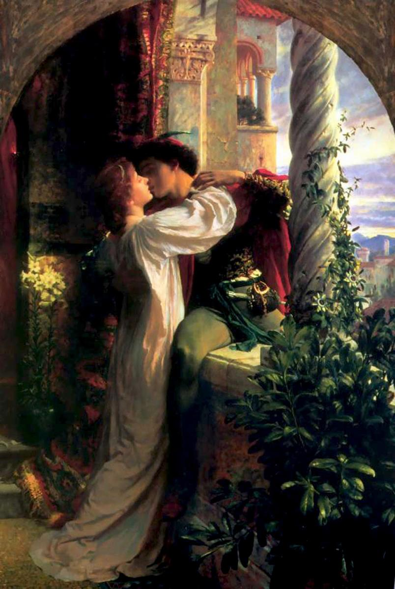 Romeo and Juliet by Frank Dicksee, 1884.