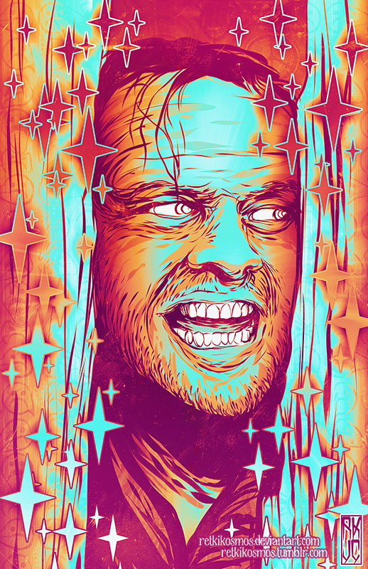 Neon Horror - Jack Torrance - The Shinning by RetkiKosmos