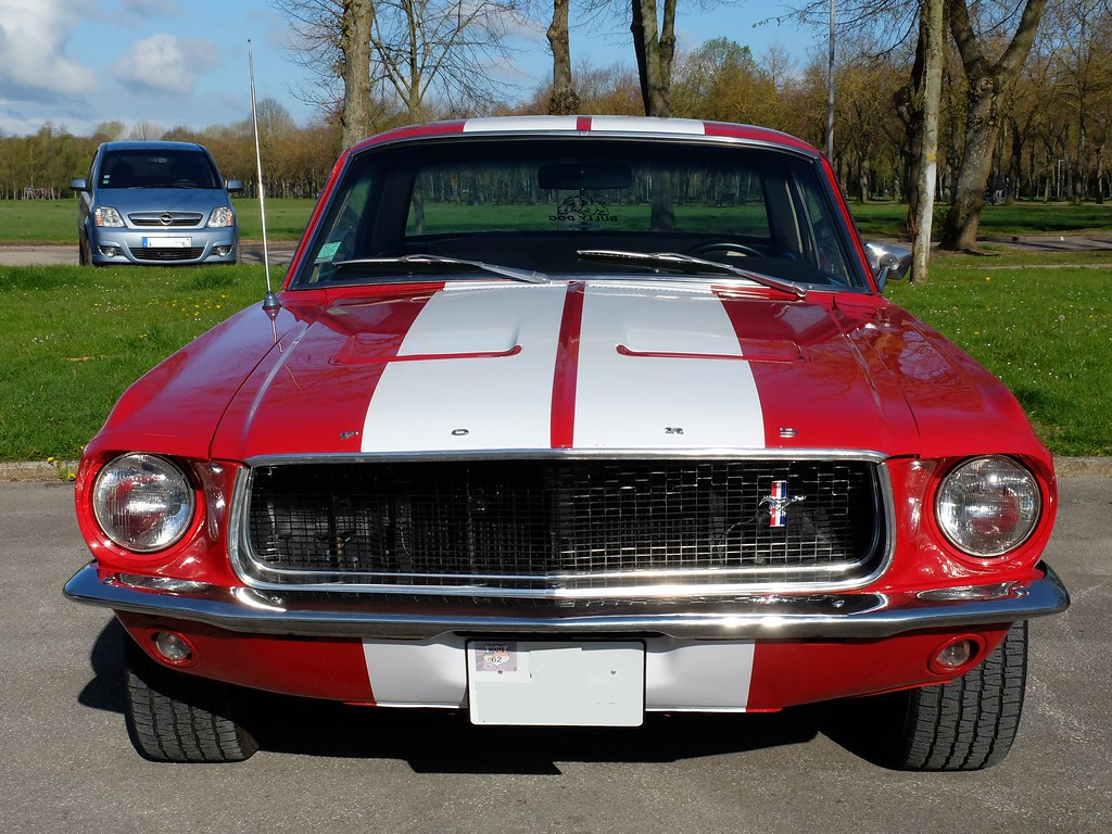 1967 ford mustang v8 coup rouge face rassemblement mens flickr. Black Bedroom Furniture Sets. Home Design Ideas