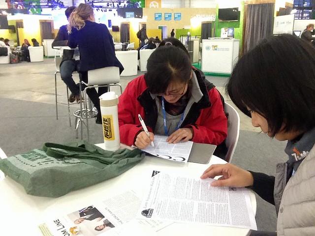 環資記者在COP21現場相會;活動日期:2015年12月12日;攝影:吳郁娟。