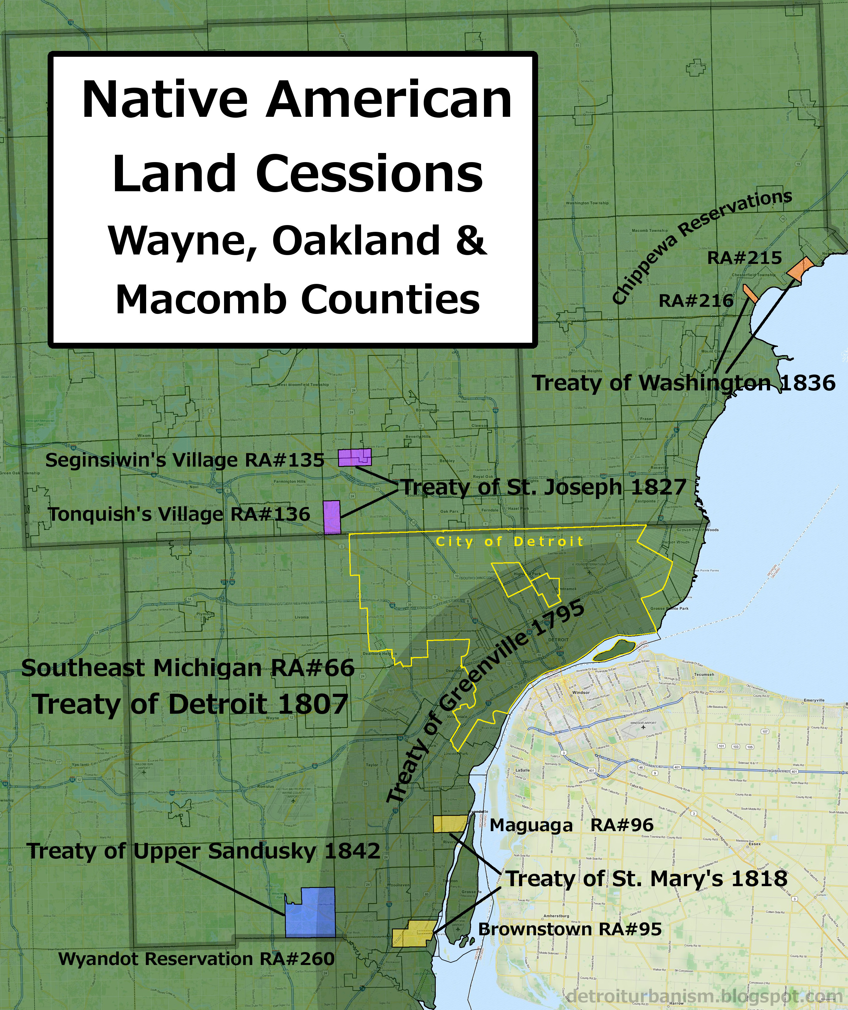 Detroit Urbanism Indian Villages Reservations And Removal - Map of indian lands in the us