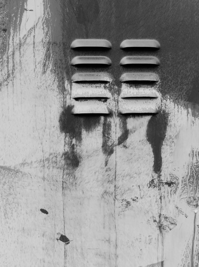 graffiti grate black and white