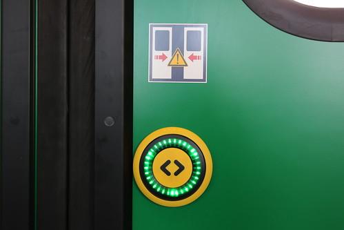Die Türöffnungstaster haben einen definierten Druckpunkt