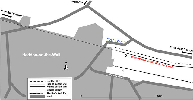 Heddon-on-the-Wall map
