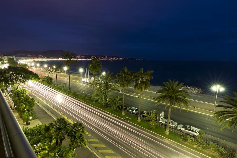 Promenade des Anglais am Abend