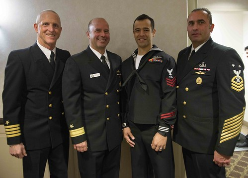 Sailor of the Year banquet dinner at Naval Base Point Loma
