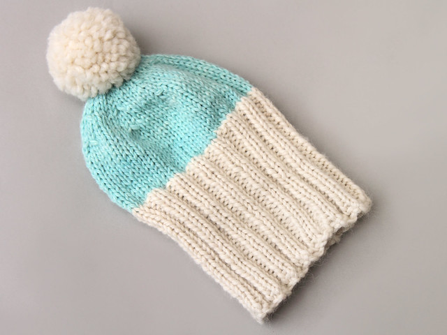 Hand knit Hoxton Luxe hat in baby alpaca – child