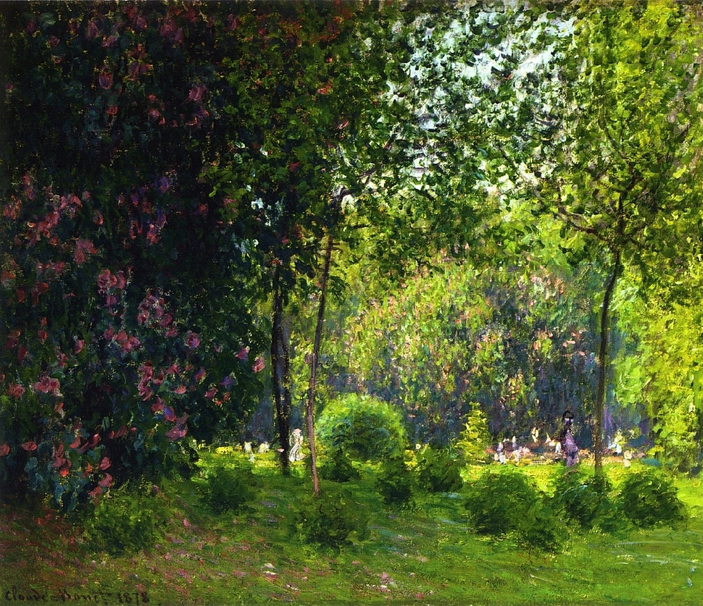 Park Monceau by Claude Monet, 1878