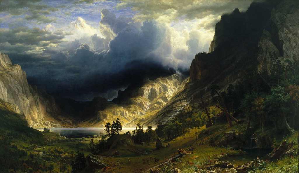 Storm in the Rocky Mountains, Mount Rosalie by Albert Bierstadt - 1866