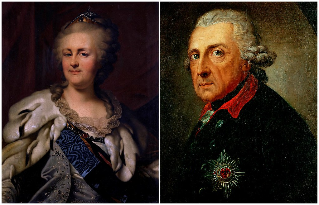 Catherine the Great of Russia and Frederick the Great of Prussia