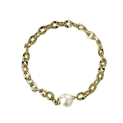 Fine corrugated RSNY Pearl gold-plated chain bracelet RMB229