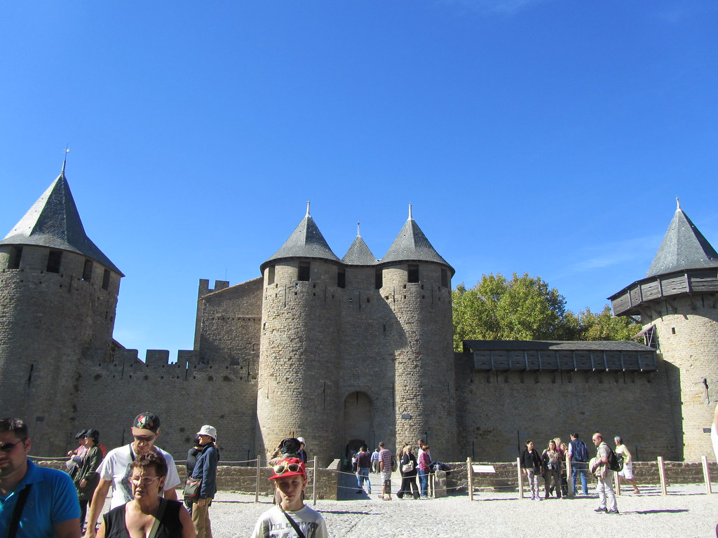 Entrance to the castle of Carcassonne in France