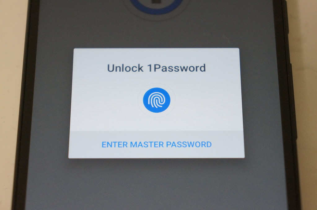 1Password for Androidで指紋認証を利用・設定する方法