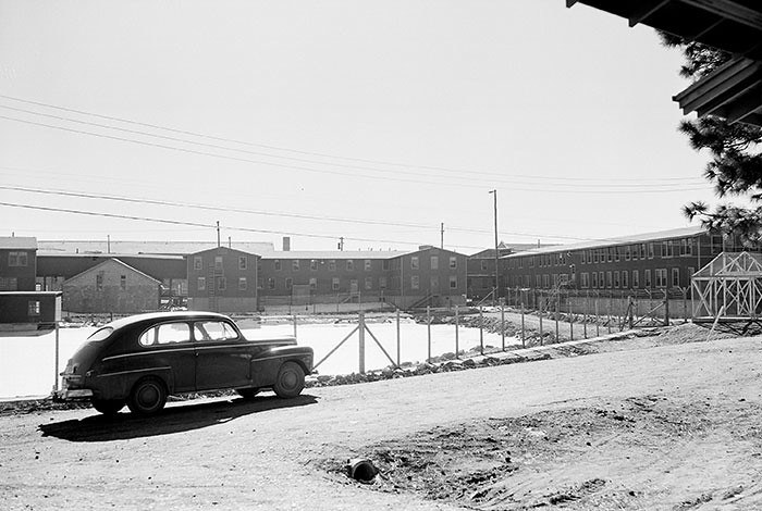 This spring, visitors will be able to stand in Ashley Pond Park and—via an app developed by the Laboratory—see how the landscape looked in the 1940s when it was the key technical area for the Laboratory during the Manhattan Project. (Photo: Los Alamos)