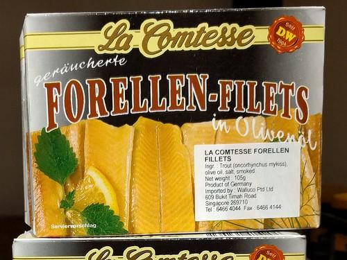 La Comtesse Geräucherte Forellen-Filets in Olivenöl