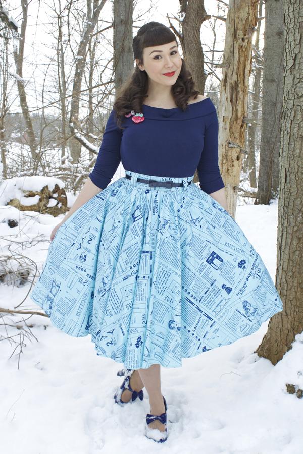 newsprint skirt