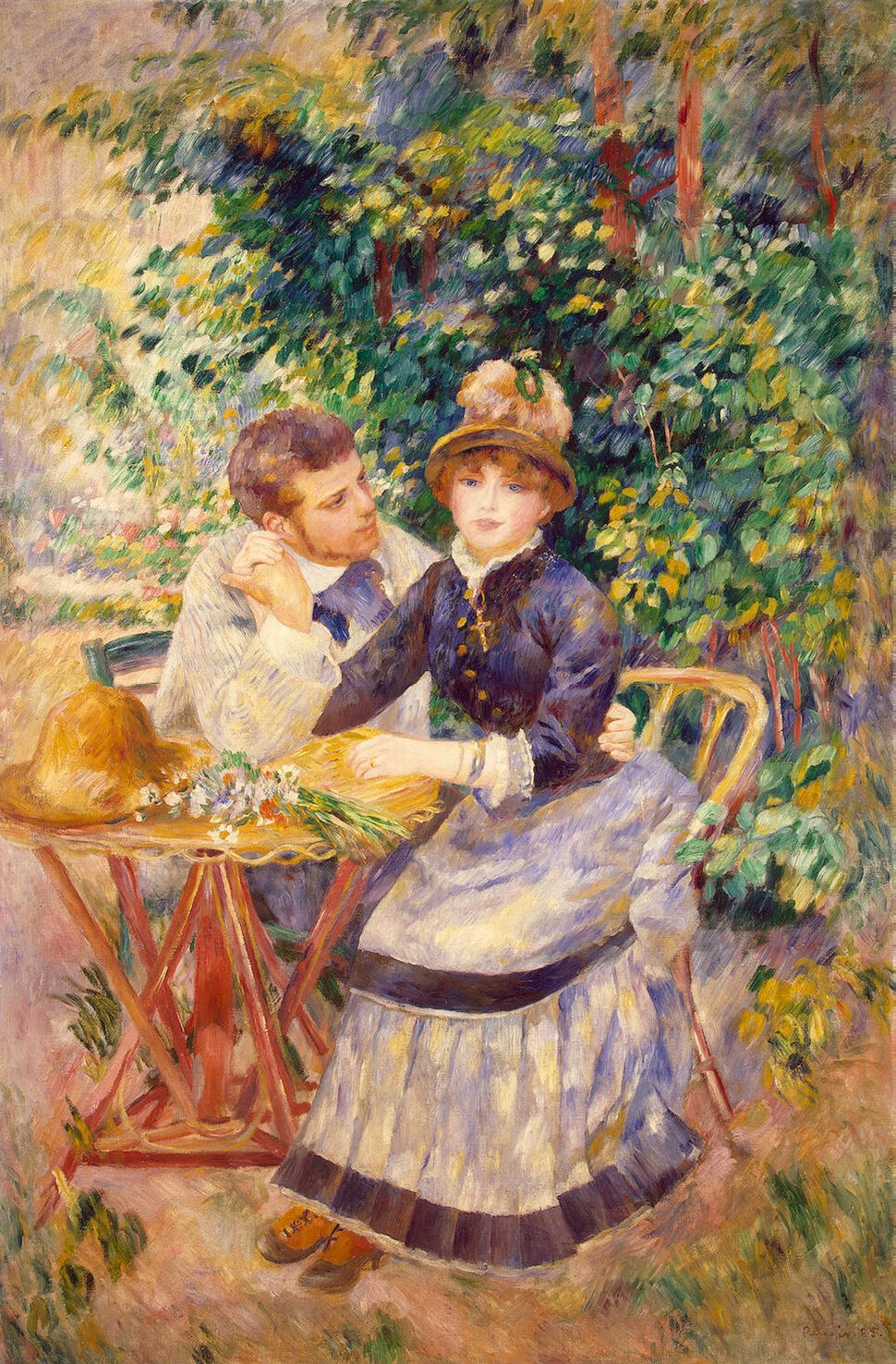 In the Garden by Pierre Auguste Renoir, 1885.