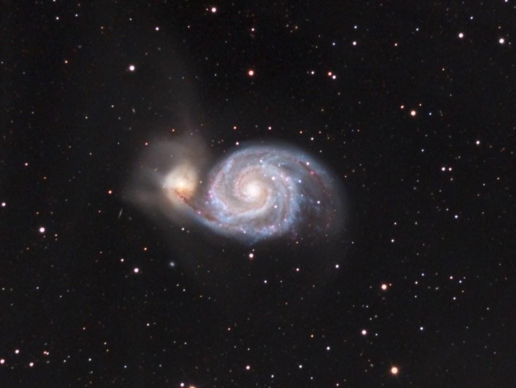 m51 the whirlpool galaxy m51 the whirlpool galaxy take flickr. Black Bedroom Furniture Sets. Home Design Ideas