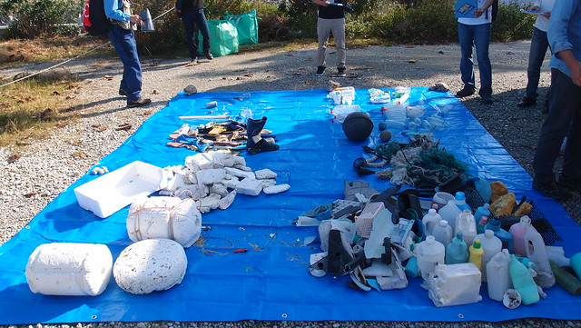 Day2-沖繩離島海漂垃圾縮影。攝影:陳姿蓉。