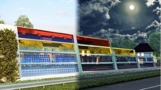 When solar energy meets Highway: not as high tech (photo)