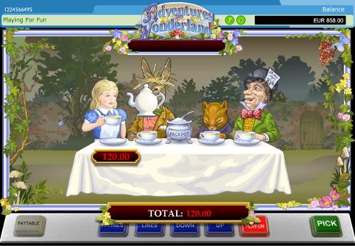 free Adventure in Wonderland bonus feature