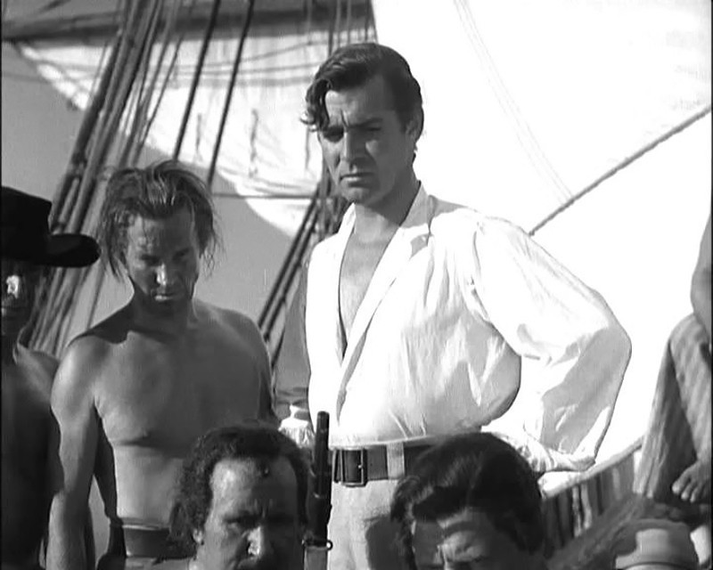 Clark Gable as Fletcher Christian in a screenshot from the trailer for the film Mutiny on the Bounty., 1935