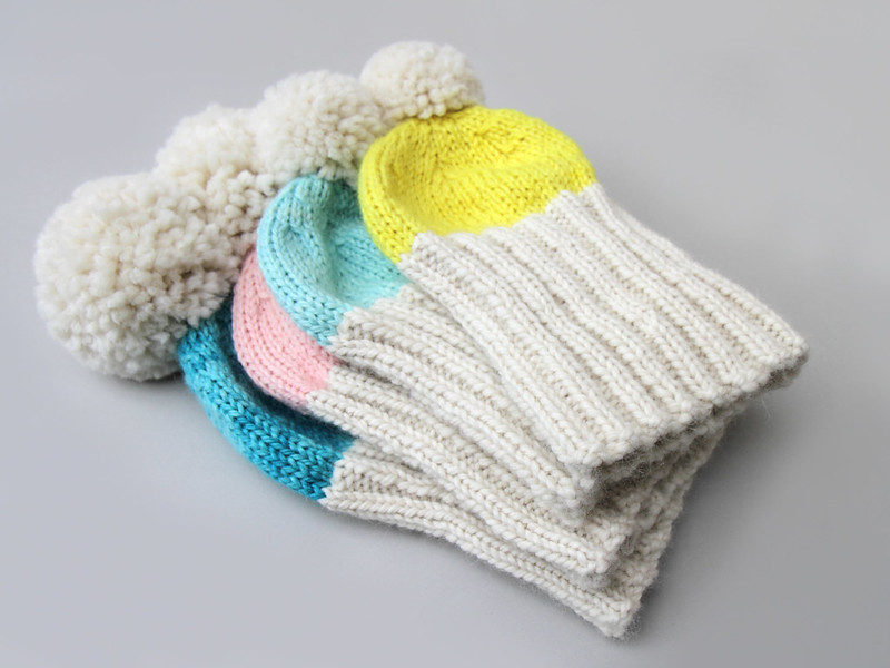 Hoxton Luxe in Marshmallow Cloud Alpaca Chunky (colours left to right) 'Turquoise', 'Baby Cakes', 'Vapour', 'Rebel Rebel'