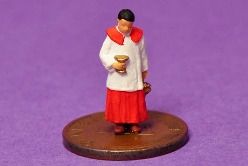 Ministrant Messdiener Weihrauch Weihrauchgefäß Kirche Figur H0 Modellbau Makrofotografie Kleine Welten ganz groß Foto Brigitte Stolle Mannheim 2016