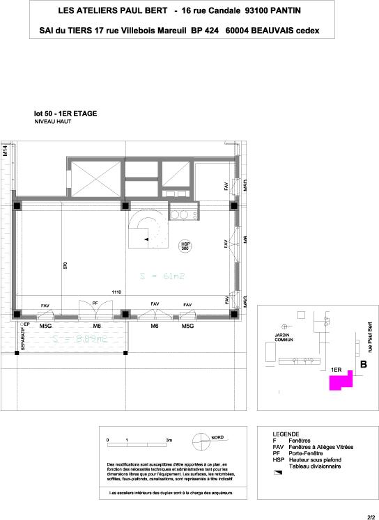 Les Ateliers Pault Bert - Plan de vente - Lot 50 (2/2)