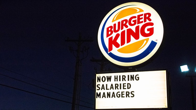 Burger King now recruiting