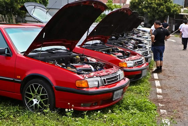 Saab 9000 Squadron at 90 Classic Meeting