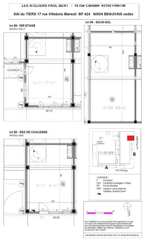 Les Ateliers Pault Bert - Plan de vente - Lot 56