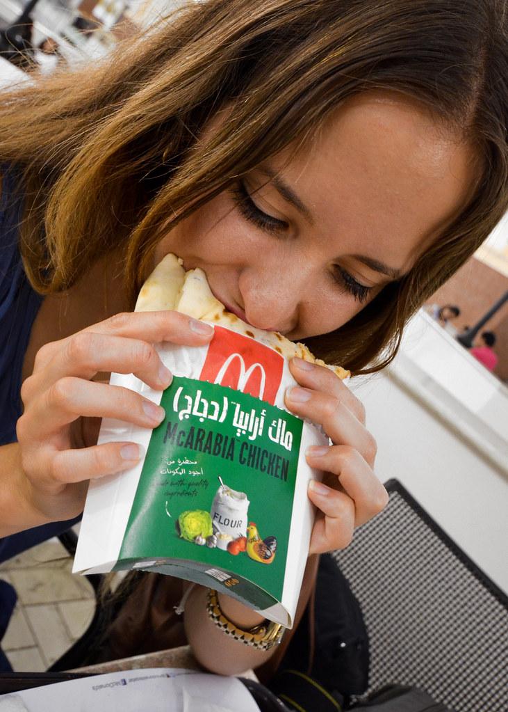 McArabia en el McDonalds de Qatar