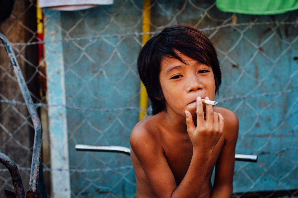 Young Boy Smoking Cigarette, Cebu City Philippines  Flickr-2228