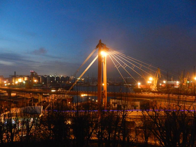 Одесса ночью.