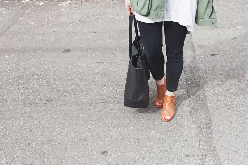 peeptoe mules outfit